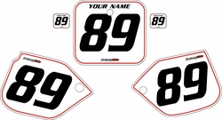 1988-1989 Honda CR250 White Pre-Printed Background - Red Pinstripe by FactoryRide