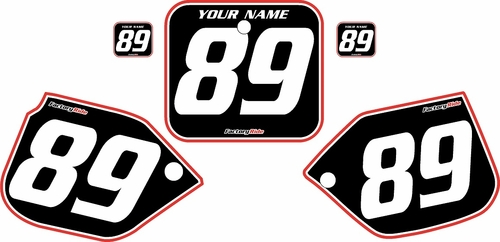 1988-1989 Honda CR250 Pre-Printed Backgrounds Black - Red Pro Pinstripe by FactoryRide