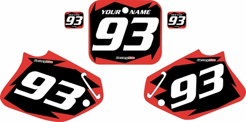 1993-1994 Honda CR125 Pre-Printed Backgrounds Black - Red Shock Series by FactoryRide