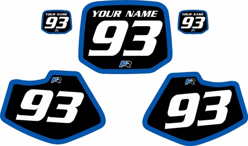 1993-2001 Yamaha YZ80 Pre-Printed Backgrounds Black - Blue Bold Pinstripe by FactoryRide