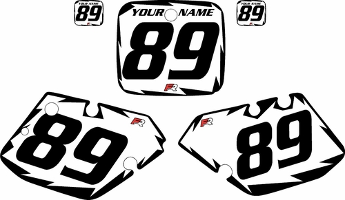 1989-1990 Yamaha YZ250 Custom Pre-Printed White Background - Black Shock Series by Factory Ride