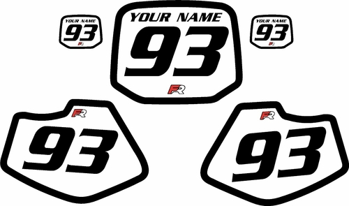 1993-2001 Yamaha YZ80 Custom White Pre-Printed Background - Black Bold Pinstripe by Factory Ride