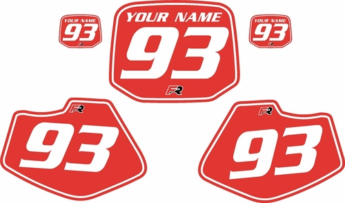 1993-2001 Yamaha YZ80 Pre-Printed Backgrounds Red - White Pinstripe by FactoryRide