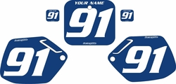 1990-1991 Honda CR250 Blue Pre-Printed Backgrounds - White Numbers by FactoryRide