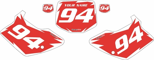 1994-1998 Kawasaki KX250 Custom Pre-Printed Red Background - White Shock Series by Factory Ride