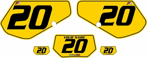 1991-1994 Kawasaki KDX250 Custom Pre-Printed Background Yellow - Black Pinstripe by Factory Ride