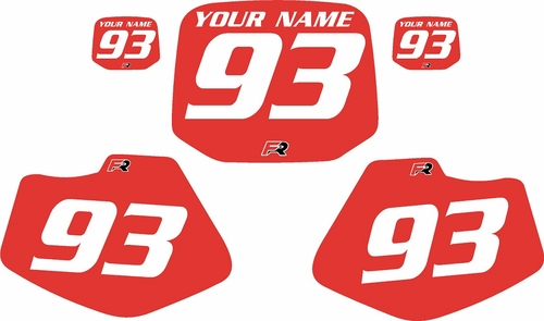 1993-2001 Yamaha YZ80 Pre-Printed Backgrounds Red - White Numbers by FactoryRide