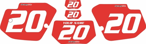 1989-1994 Kawasaki KDX200 Custom Pre-Printed Background Red - White Numbers by Factory Ride