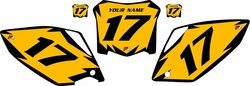 2008 Honda CRF450 R Pre-Printed Yellow Backgrounds - Black Shock Series by FactoryRide