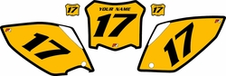 2008 Honda CRF450 R Pre-Printed Backgrounds Yellow - Black Bold Pinstripe by FactoryRide