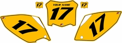 2008 Honda CRF450 R Pre-Printed Backgrounds Yellow - Black Pinstripe by FactoryRide