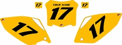2008 Honda CRF450 R Pre-Printed Backgrounds Yellow - Black Numbers by FactoryRide