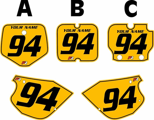 1991-1997 Kawasaki KX 80 Custom Pre-Printed Yellow Background - Black Pinstripe by Factory Ride