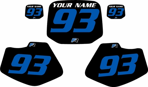 1993-2001 Yamaha YZ80 Pre-Printed Backgrounds Black - Blue Numbers by FactoryRide