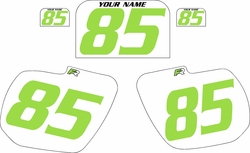 1984 Kawasaki KX125 Custom Pre-Printed Background White - Green Numbers by Factory Ride