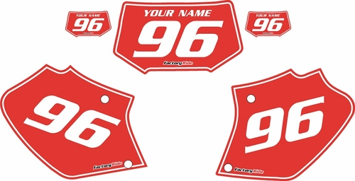 1996-2004 Honda XR250 Pre-Printed Backgrounds Red - White Pinstripe by FactoryRide