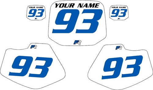 1993-2001 Yamaha YZ80 Pre-Printed Backgrounds White - Blue Numbers by FactoryRide