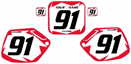 1990-1991 Honda CR250 Pre-Printed Backgrounds White - Red Shock Series by FactoryRide
