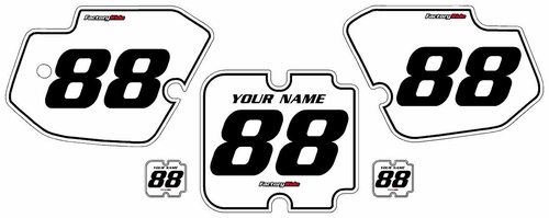 1988 Kawasaki KX500 White Pre-Printed Background - Black Pinstripe by FactoryRide