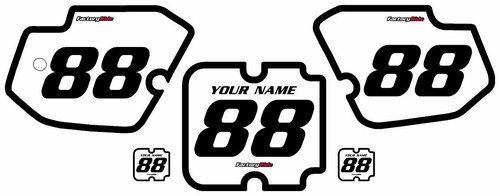 1988 Kawasaki KX500 White Pre-Printed Background - Black Bold Pinstripe by FactoryRide