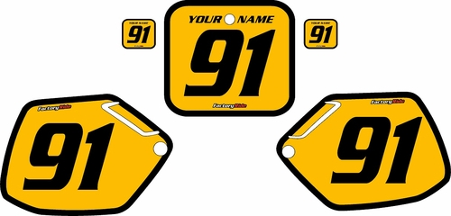 1990-1991 Honda CR250 Pre-Printed Backgrounds Yellow - Black Bold Pinstripe by FactoryRide