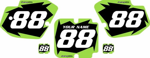1988 Kawasaki KX500 Pre-Printed Backgrounds Black - Green Shock Series by FactoryRide