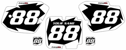 1988 Kawasaki KX500 Black Pre-Printed Background - White Shock Series by FactoryRide