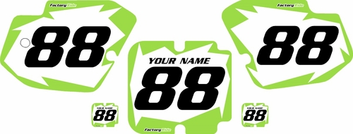 1988 Kawasaki KX500 Pre-Printed Backgrounds White - Green Shock Series by FactoryRide