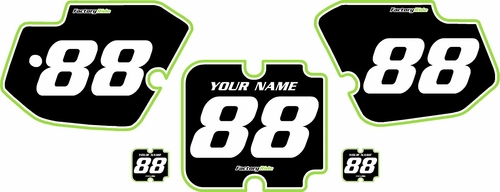 1988-1989 Kawasaki KX125 Custom Pre-Printed Background Black - Green Pro Pinstripe by Factory Ride