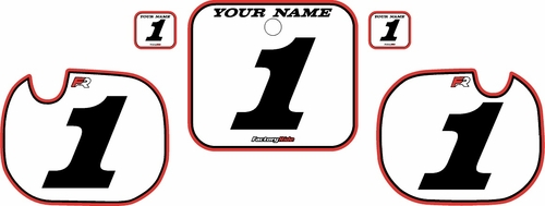 1984 Honda CR500 Pre-Printed Backgrounds White - Red Pro Pinstripe by FactoryRide