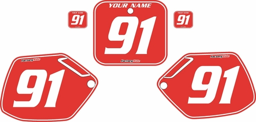 1990-1991 Honda CR250 Pre-Printed Backgrounds Red - White Pinstripe by FactoryRide