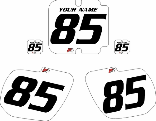1985-1986 Kawasaki KX500 Custom Pre-Printed White Background - Black Numbers by Factory Ride