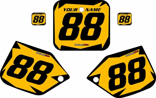 1987-1988 Honda CR500 Pre-Printed Backgrounds Yellow - Black Shock Series by FactoryRide