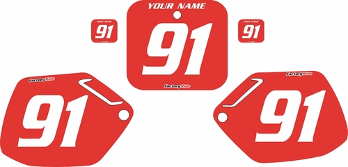 1990-1991 Honda CR250 Pre-Printed Backgrounds Red - White Numbers by FactoryRide