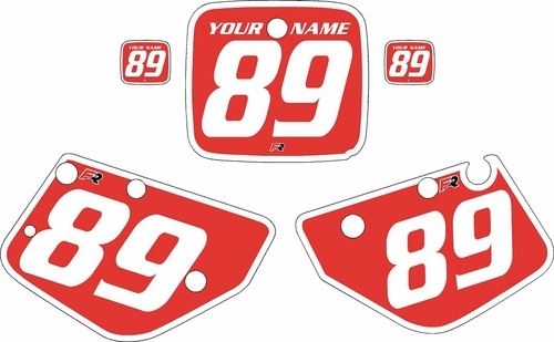 1986-1989 Yamaha YZ490 Custom Pre-Printed Red Background - White Bold Pinstripe by Factory Ride