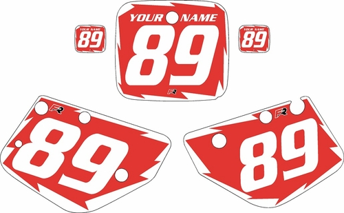 1986-1989 Yamaha YZ490 Custom Pre-Printed Red Background - White Shock Series by Factory Ride
