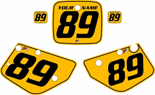 1986-1989 Yamaha YZ490 Custom Pre-Printed Yellow Background - Black Pinstripe by Factory Ride