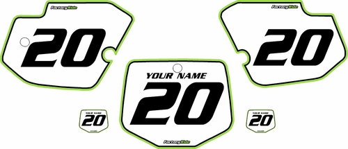 1996-2004 Kawasaki KX500 Custom Pre-Printed Background White - Green Pro Pinstripe by Factory Ride