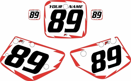 1986-1989 Yamaha YZ490 Custom Pre-Printed White Background - Red Shock Series by Factory Ride