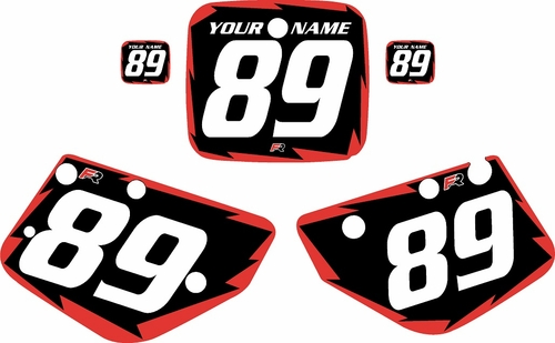 1986-1989 Yamaha YZ490 Custom Pre-Printed Black Background - Red Shock Series by Factory Ride