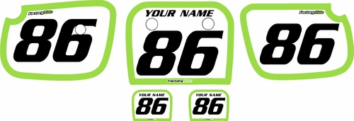 1986-2004 Kawasaki KX60 Pre-Printed Backgrounds White - Green Bold Pinstripe by FactoryRide