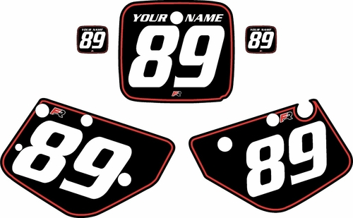 1986-1989 Yamaha YZ490 Custom Pre-Printed Black Background - Red Pinstripe by Factory Ride