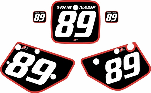 1986-1989 Yamaha YZ490 Custom Pre-Printed Black Background - Red Bold Pinstripe by Factory Ride