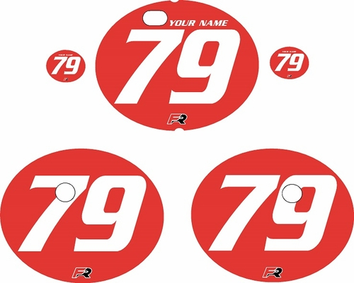 1979-1980 Suzuki RM125 Red Pre-Printed Backgrounds - White Numbers by FactoryRide