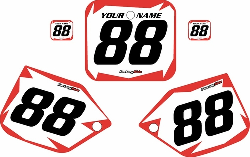 1987-1988 Honda CR500 Pre-Printed Backgrounds White - Red Shock Series by FactoryRide