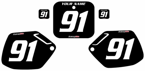 1990-1991 Honda CR250 Custom Black Pre-Printed Background - White Numbers by Factory Ride
