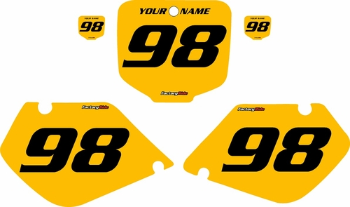 1998-1999 Honda CR125 Pre-Printed Backgrounds Yellow - Black Numbers by FactoryRide
