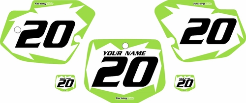 1996-2004 Kawasaki KX500 Pre-Printed Backgrounds White - Green Shock Series by FactoryRide