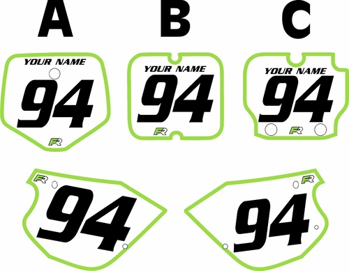 1991-1997 Kawasaki KX80 Pre-Printed Backgrounds White - Green Bold Pinstripe by FactoryRide