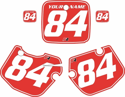 1984-1985 Yamaha YZ490 Custom Pre-Printed Red Background - White Pinstripe by Factory Ride